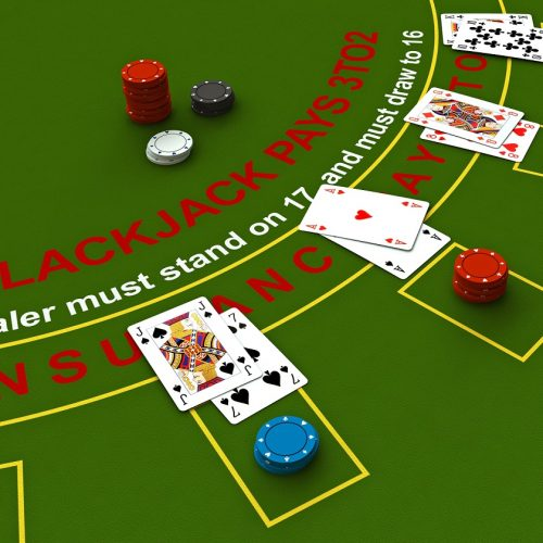 3d Blackjack tafel