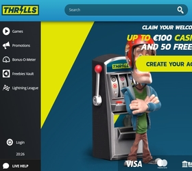 Website van Thrills casino